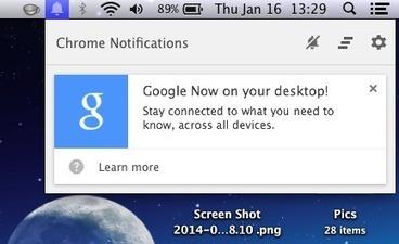 Google Now arrive dans la version de développement de Chrome | Apple : Mac, iPhone, iPad | Scoop.it