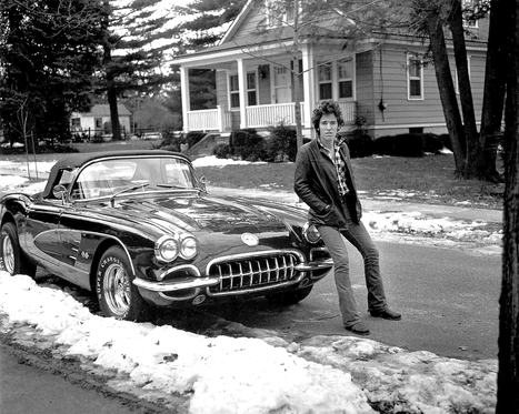 GentleCar: Bruce Springsteen with his Corvette in 1978 ... | Bruce Springsteen Limited Edition Book | Scoop.it