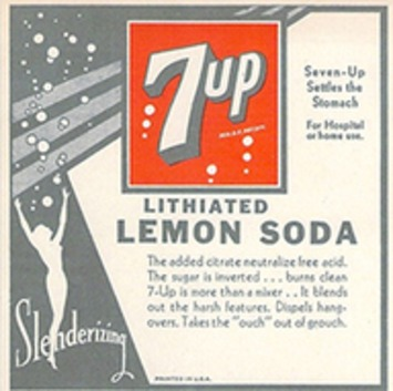 Did you know…? 7-Up once contained Lithium. | Kitsch | Scoop.it