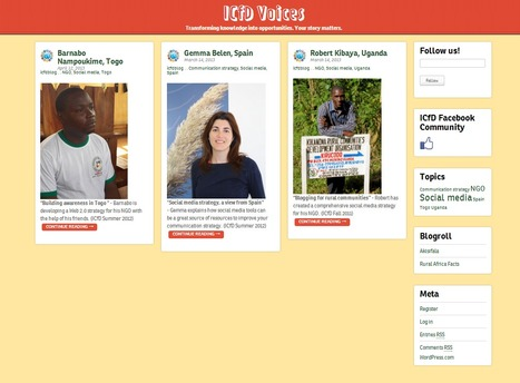 ICfD Voices | Learning & Knowledge for the Future - www.akisifala.org | Scoop.it