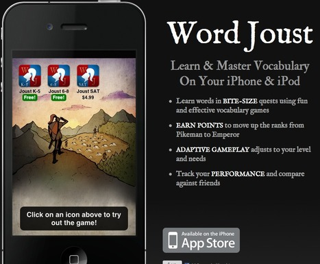 Word Joust - Learn Vocabulary on iPhone or iPad | IPAD APPLICATIONS FOR TEACHERS | Scoop.it