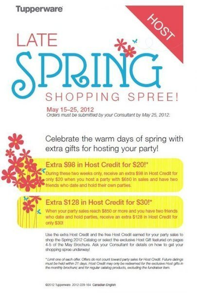 Late Spring Shopping Spree!! | May Tupperware Specials | Scoop.it