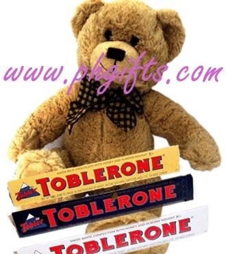Soft Light Brown bear approximately 12-13 inches with 3pcs 100g Toblerone bar. | MOTHER'S DAY GIFT IDEAS | Scoop.it