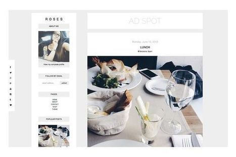 Roses Blogger Theme | Blogger themes | Scoop.it