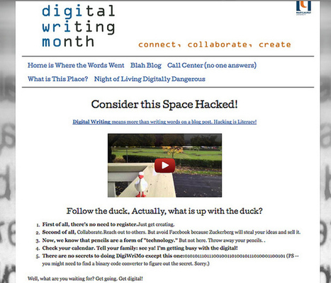 Hacking/Remixing the Digital Writing Month Website | #digiwrimo: Digital Writing Month | Scoop.it