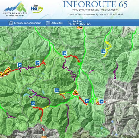 Conditions de circulation en Aure et Louron le 7 février à 11h 45 | InfoRoute65 | Vallée d'Aure - Pyrénées | Scoop.it