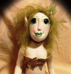 OOAK Woodland Pixie Cloth Art Doll   Cloth art dolls   Scoop.it