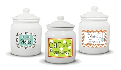 Personalized Cookie Jars - a place to stash the sweets - new product line launched @ PJ Greetings | Personalized Gifts and Custom Stationery | Scoop.it