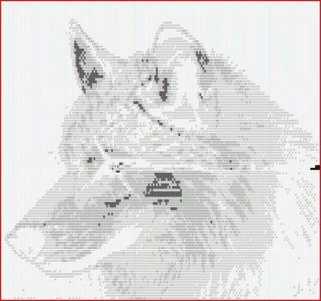 Wolf Text Art! | ASCII Art | Scoop.it