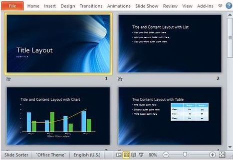 Free Business Blue Tunnel PowerPoint Template | Free Office Templates | Scoop.it