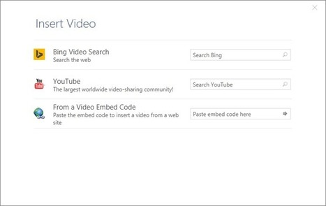 How to Add a YouTube Video to Word, PowerPoint & OneNote on Windows | Education Technology - theory & practice | Scoop.it