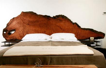 6 originali idee per una testata del letto in l - Spalliere letto in legno ...