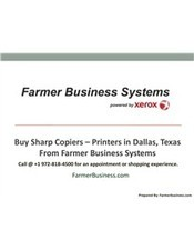 Buy Sharp Copiers – Printers in Dallas, Texas from Farmer Business Systems | Farmer Business System - Xerox, Samsung, Sharp Printers and Copiers | Scoop.it