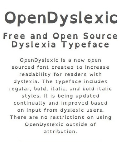 Dyslexie versus OpenDyslexic | Educationally Insightful Minds | Scoop.it