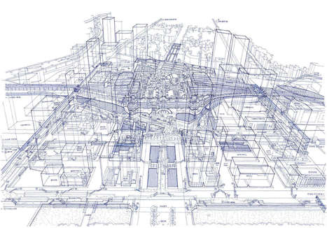 X-Ray Vision: Tomoyuki Tanaka Opens Up Tokyo's Train Stations With INTICRATE Ballpoint Drawings | URBANmedias | Scoop.it