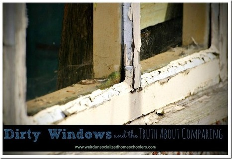 Dirty Windows and the Truth About Comparing - Weird Unsocialized Homeschoolers | Homeschooling Our Children | Scoop.it