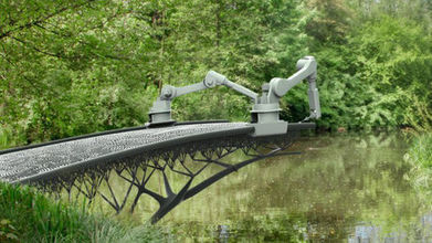 Un robot va imprimer en 3D un pont en acier au dessus d'un canal d ... - Maxisciences | Des robots et des drones | Scoop.it