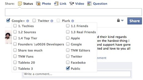 This extension lets you crosspost between Twitter, Facebook and Google+…in any order.   Time to Learn   Scoop.it