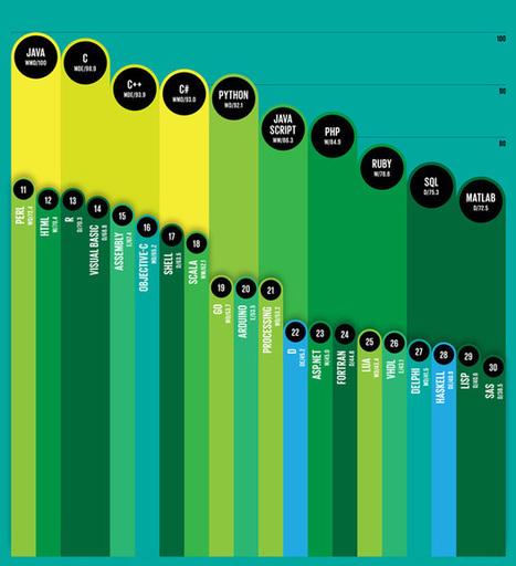 Top 10 Programming Languages - IEEE Spectrum | 1012ICT - Cameron Taverner | Scoop.it