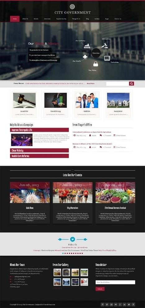 City Government, WordPress Responsive Retina Theme | WP Download | Premium WordPress Themes Download | Scoop.it