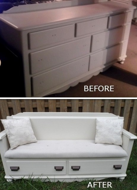 Old dresser to a bench upcycle | Landscape Creative Inspiration | Scoop.it