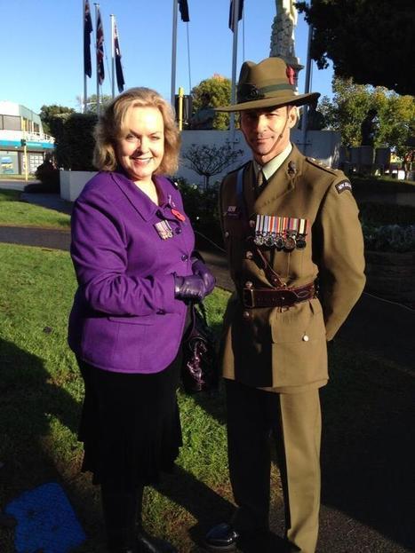 Twitter / JudithCollinsMP: ANZAC Day, Papakura with my ... | ANZAC Legend | Scoop.it