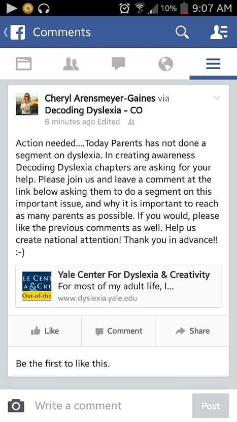 Creating awareness! | Decoding Dyslexia Colorado | Scoop.it