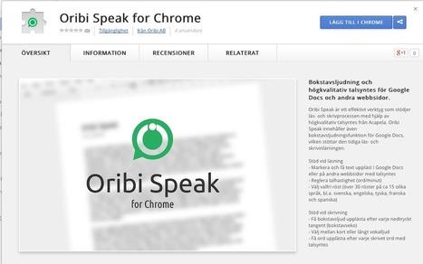 Anneliessenaste: Oribi speak | Hjälpmedel i skolan | Scoop.it