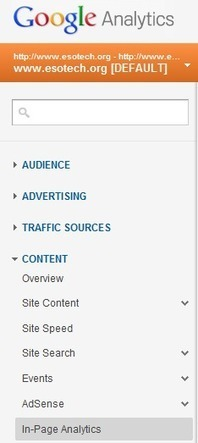 How to Use Google In Page Analytics to Analyze Website Performance | Web Analytics and Web Copy | Scoop.it