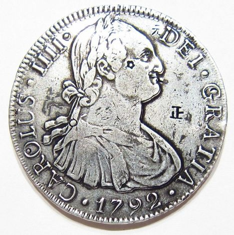 1792 .896 SILVER 8 REALES Colonial Mexico RARE COMPLETE OBVERSE RE-CUT DOUBLED | Coins Tokens & Medals | Scoop.it