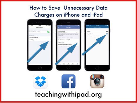 How to Save Unnecessary Data Charges on your iPhone or iPad - teachingwithipad.org | iPads in Education | Scoop.it