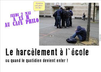 Café philo sur le harcèlement | Chatellerault, secouez-moi, secouez-moi! | Scoop.it