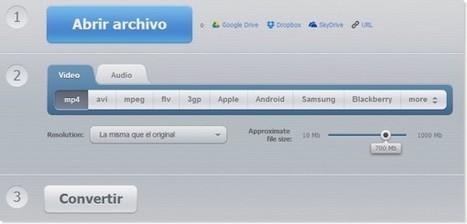 Online Video Converter, para convertir archivos en tu SkyDrive, Google Drive y Dropbox | TIC's en Enseñanza K6-18 | Scoop.it