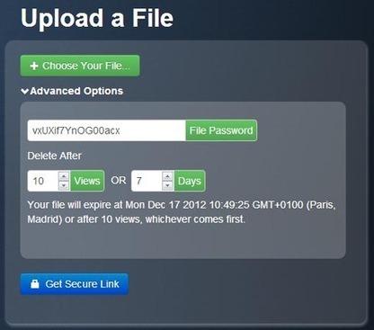 Securesha.re, ou comment transmettre un fichier de façon sécurisée | Libertés Numériques | Scoop.it
