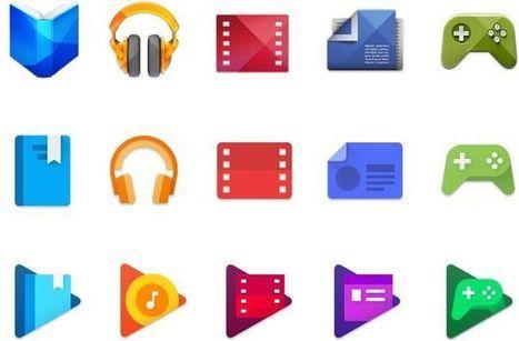 Google change le design des icônes de ses Play Apps pour mieux les unifier - FrAndroid | Freewares | Scoop.it