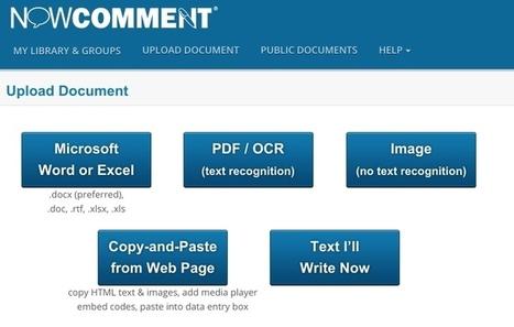 NowComment. Créer échanges et discussions autour d'un document | Les outils du Web 2.0 | Scoop.it
