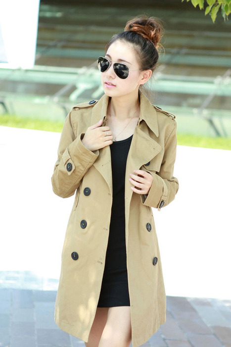 Cheap Korean temperament long sleeve cotton women's double-breasted trench coat in women outcoat from women clothing on sightface.com | Cheap women Clothing Online at Sightface | Scoop.it