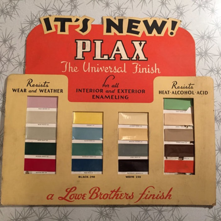 Vintage Store Display 1950s Advertisement - Plax Universal Finish - Lowe Brothers Paint - Ohio Vintage Sign - Paper Ephemera | Antiques & Vintage Collectibles | Scoop.it