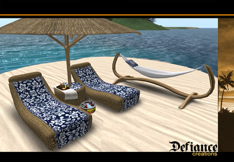Tiki Tropical Beach Furniture Set by Headhunter's Island | Teleport Hub | Second Life Freebies | Scoop.it