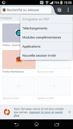Installer des Web Apps comme des Apps natives Android avec Firefox 29 bêta | Time to Learn | Scoop.it