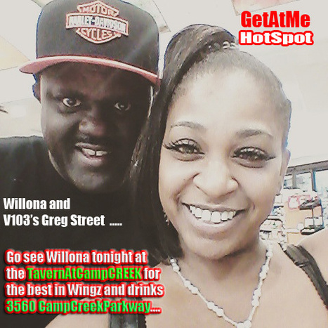 GetAtMe HotSPOT Willona Allison and V103's Greg Street......... | GetAtMe | Scoop.it
