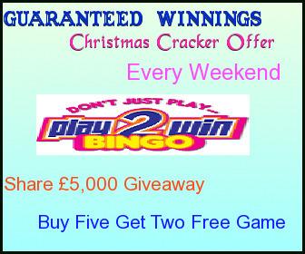 Guaranteed Winnings Every Weekend at Play2win Bingo   UK Bingo Place   Scoop.it