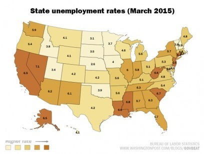 How state unemployment compares to the national rate | INTRODUCTION TO THE SOCIAL SCIENCES DIGITAL TEXTBOOK(PSYCHOLOGY-ECONOMICS-SOCIOLOGY):MIKE BUSARELLO | Scoop.it