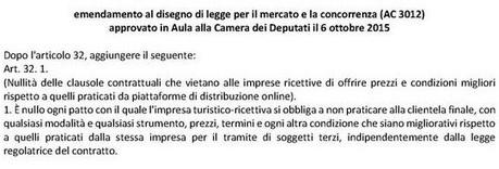 Abolizione della rate parity per gli hotel: il Parlamento italiano vota sì | GH WebNews | Scoop.it