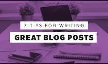 7 Awesome Tips For Writing Brilliant Blog Posts [Infographic] | M-learning, E-Learning, and Technical Communications | Scoop.it