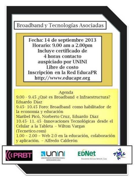 Conferencia online: Broadband y Tecnologías Asociadas | Aprendiendo a Distancia | Scoop.it