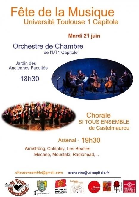 L'orchestre de chambre de l'UT1 Capitole et la chorale Si Tous Ensemble de Castelmaurou   Vie du Campus   Scoop.it