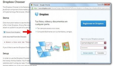 Dropbox presenta Chooser, una nueva forma de subir a la web archivos guardados en Dropbox.- | Antonio Galvez | Scoop.it