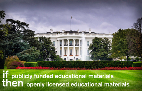 Obama administration should require sharing of federally funded educational resources under Creative Commons licenses | FutureTech for Learning | Scoop.it