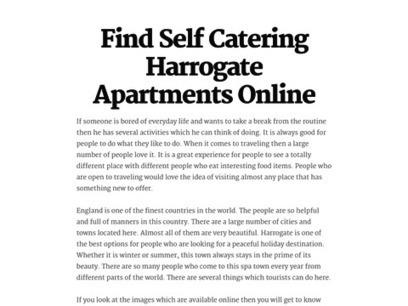 Find Self Catering Harrogate Apartments Online   Rasmusliving.co.uk   Scoop.it